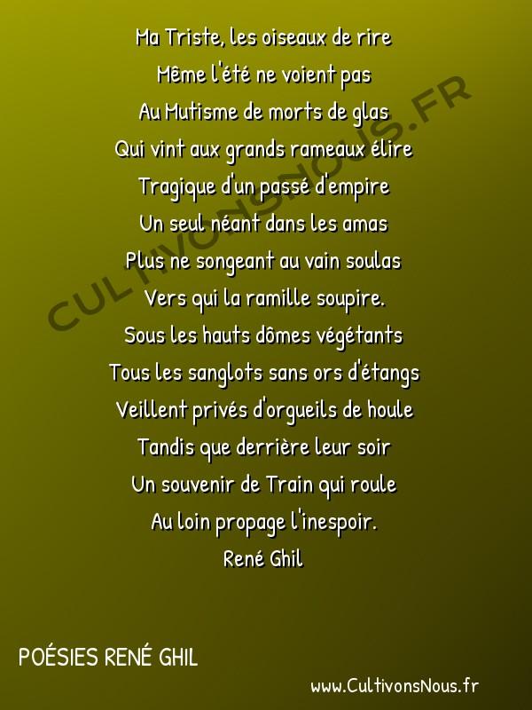 Poésies René Ghil - Poèmes séparés - Sonnet -  Ma Triste, les oiseaux de rire Même l'été ne voient pas