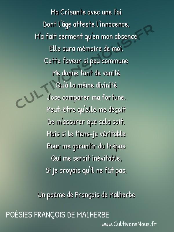 Poésies François de Malherbe - Poèmes - Madrigal -  Ma Crisante avec une foi Dont l'âge atteste l'innocence,
