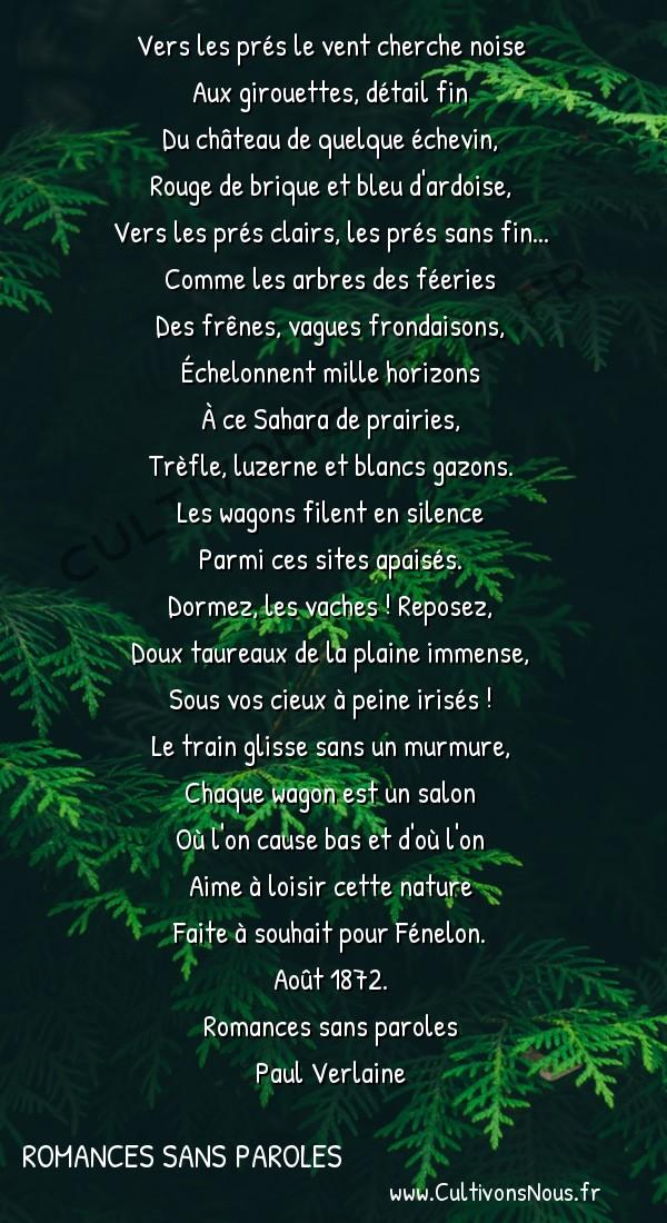 Poésie Paul Verlaine - Romances sans paroles - Malines -  Vers les prés le vent cherche noise Aux girouettes, détail fin