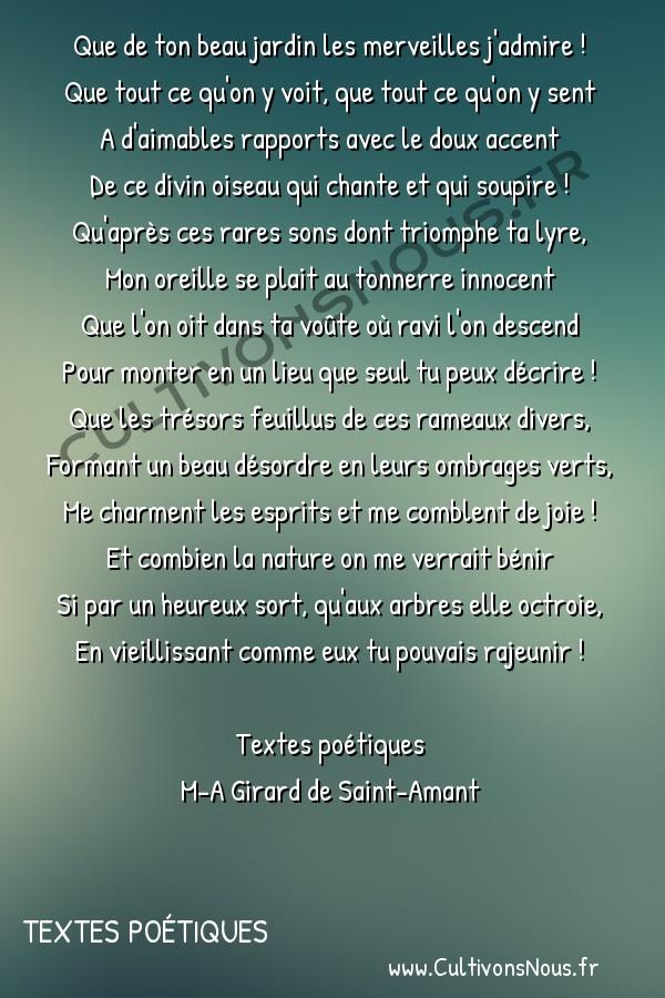 Poésie M-A Girard de Saint-Amant - Textes poétiques - Sonnet à feu M. Desyveteaux -  Que de ton beau jardin les merveilles j'admire ! Que tout ce qu'on y voit, que tout ce qu'on y sent