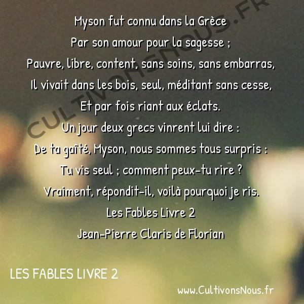 Poésie Jean-Pierre Claris de Florian - Les Fables Livre 2 - Myson -  Myson fut connu dans la Grèce Par son amour pour la sagesse ;