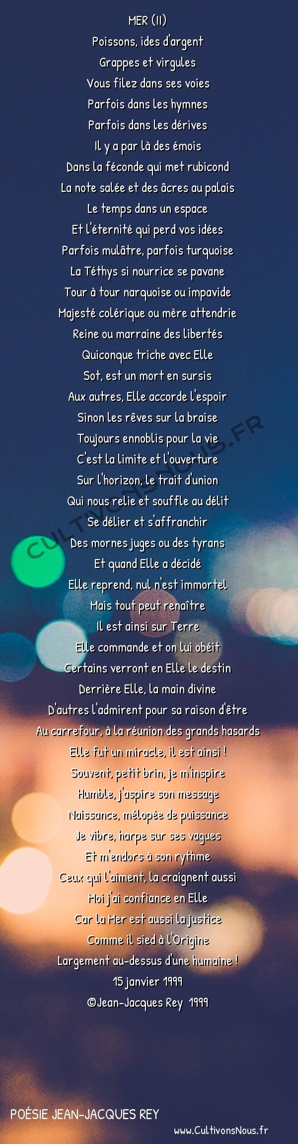 Poésies contemporaines - poésie Jean-Jacques Rey - mer 2 -  MER (II) Poissons, ides d'argent