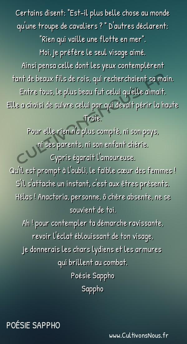 Poésie Sappho - Pour Anactoria -  Certains disent: