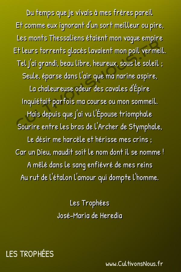 poésie José-Maria de Heredia - les trophées - Nessus -  Du temps que je vivais à mes frères pareil Et comme eux ignorant d'un sort meilleur ou pire,