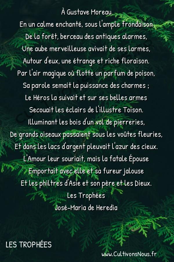 poésie José-Maria de Heredia - les trophées - Jason et Médée -  À Gustave Moreau En un calme enchanté, sous l'ample frondaison