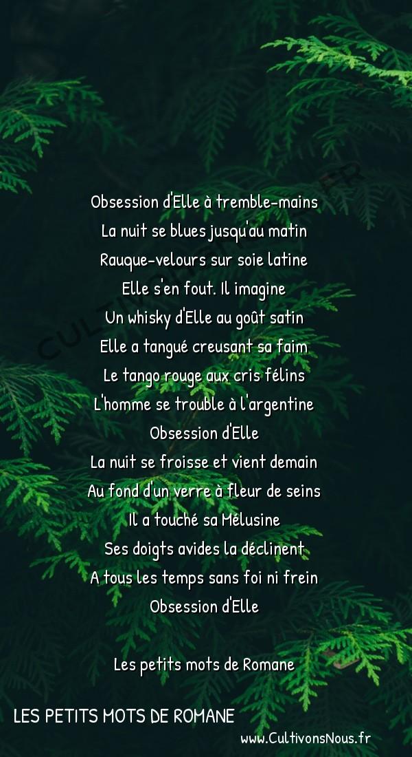 Poésies contemporaines - Les petits mots de Romane - Noir Blues -
