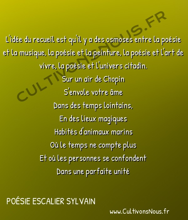 Poésies contemporaines - poésie escalier sylvain - Osmose : Poésie citadine -