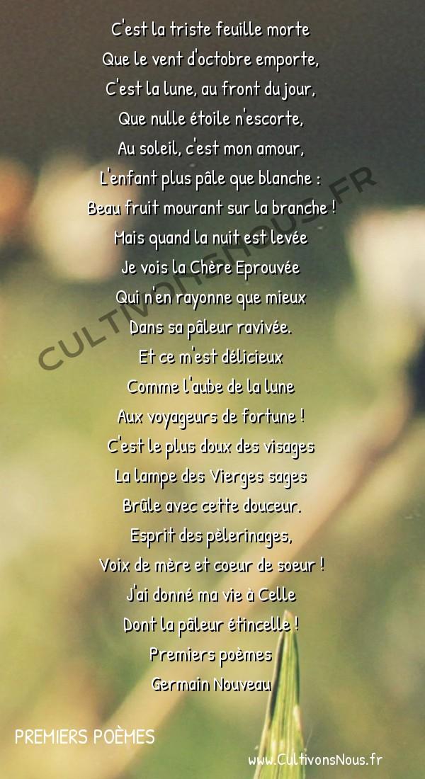 Poésie Germain Nouveau - Premiers poèmes - L'enfant pâle -  C'est la triste feuille morte Que le vent d'octobre emporte,