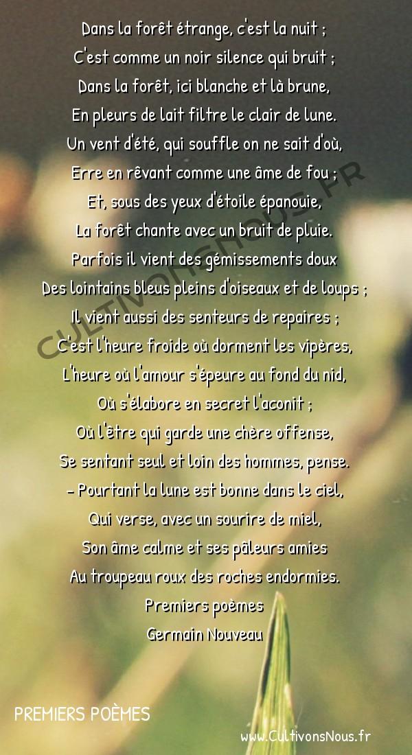 Préférence En forêt-Poésie Germain Nouveau, Premiers poèmes - Cultivons nous ZU91
