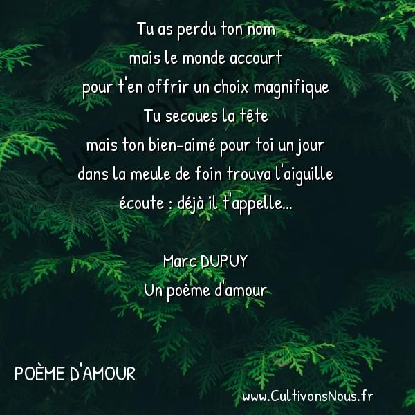 Tu As Perdu Ton Nom Poème Damour Cultivons Nous