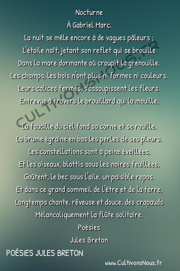 Poésies Jules Breton - Nocturne -  Nocturne À Gabriel Marc.