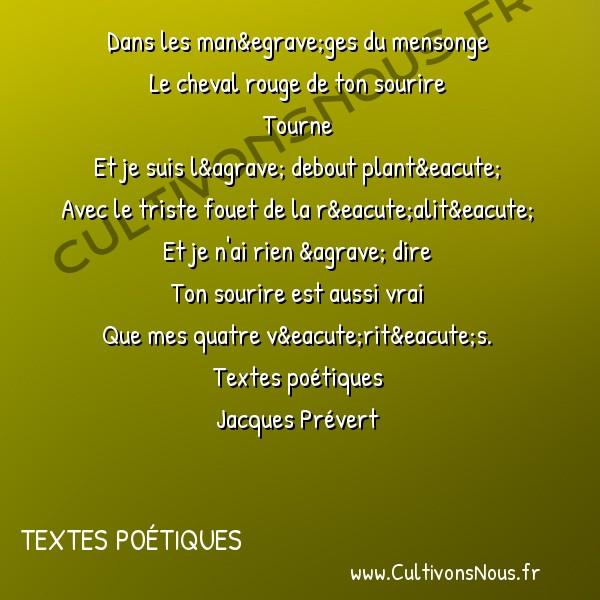 Le Cheval Rouge Poésie Jacques Prevert Textes Poétiques