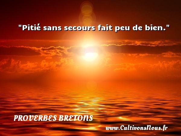 Proverbes bretons - Pitié sans secours fait peu de bien. Un proverbe breton PROVERBES BRETONS