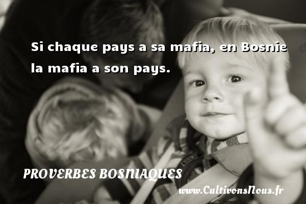 Proverbes bosniaques - Si chaque pays a sa mafia, en Bosnie la mafia a son pays. Un proverbe bosniaque PROVERBES BOSNIAQUES