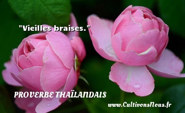 Proverbes thaïlandais - Vieilles braises. Un proverbe thaïlandais PROVERBES THAÏLANDAIS