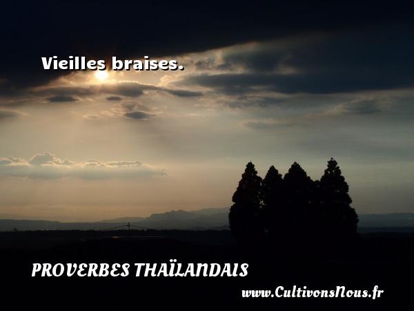 Vieilles braises. Un proverbe thaïlandais PROVERBES THAÏLANDAIS - Proverbes thaïlandais