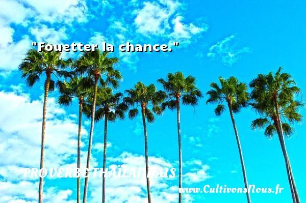 Fouetter la chance.  Un proverbe thaïlandais PROVERBES THAÏLANDAIS - Proverbes thaïlandais - Proverbe chance