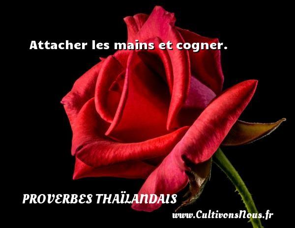 Proverbes thaïlandais - Attacher les mains et cogner. Un proverbe thaïlandais PROVERBES THAÏLANDAIS