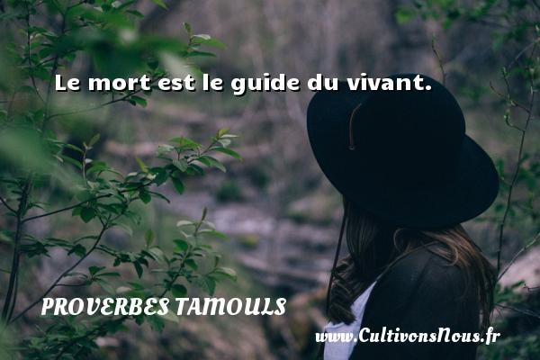 Proverbes tamouls - Le mort est le guide du vivant. Un proverbe tamoul PROVERBES TAMOULS