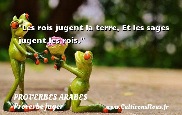 Proverbes arabes - Proverbe juger - Les rois jugent la terre, Et les sages jugent les rois.   Un proverbe arabe PROVERBES ARABES