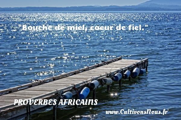 Bouche de miel, coeur de fiel.  Un proverbe africain PROVERBES AFRICAINS