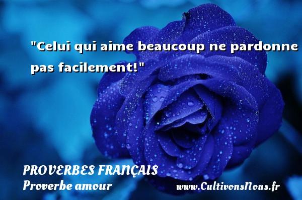 Proverbes français - Proverbe amour - Celui qui aime beaucoup ne pardonne pas facilement!  Un proverbe sur l amour PROVERBES FRANÇAIS