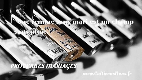 Une femme sans mari est un champ sans pluie.   Un proverbe indien   Un proverbe sur le mariage PROVERBES INDIENS - Proverbes mariage