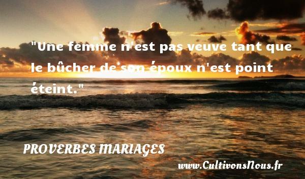 Proverbes hindous - Proverbes mariage - Une femme n est pas veuve tant que le bûcher de son époux n est point éteint.   Un proverbe hindou   Un proverbe sur le mariage PROVERBES HINDOUS