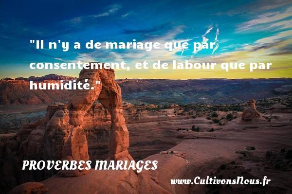 Il n y a de mariage que par consentement, et de labour que par humidité.   Un proverbe marocain   Un proverbe sur le mariage PROVERBES MAROCAINS - Proverbes mariage