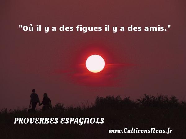Où il y a des figues il y a des amis. Un Proverbe espagnol PROVERBES ESPAGNOLS - Proverbes philosophiques
