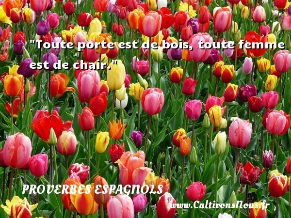 Toute porte est de bois, toute femme est de chair. Un Proverbe espagnol PROVERBES ESPAGNOLS - Proverbes fun