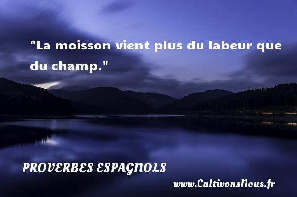 La moisson vient plus du labeur que du champ. Un Proverbe espagnol PROVERBES ESPAGNOLS - Proverbes philosophiques