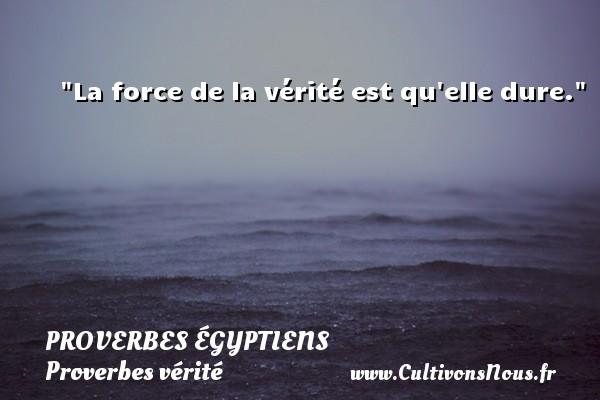 Proverbes égyptiens - Proverbes vérité - La force de la vérité est qu elle dure. Un Proverbe egyptien PROVERBES ÉGYPTIENS