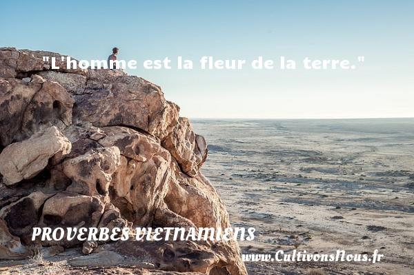 L homme est la fleur de la terre. Un Proverbe vietnamien PROVERBES VIETNAMIENS - Proverbes philosophiques