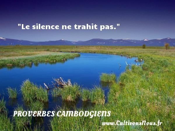 Le silence ne trahit pas. Un Proverbe cambodgien PROVERBES CAMBODGIENS - Proverbes philosophiques