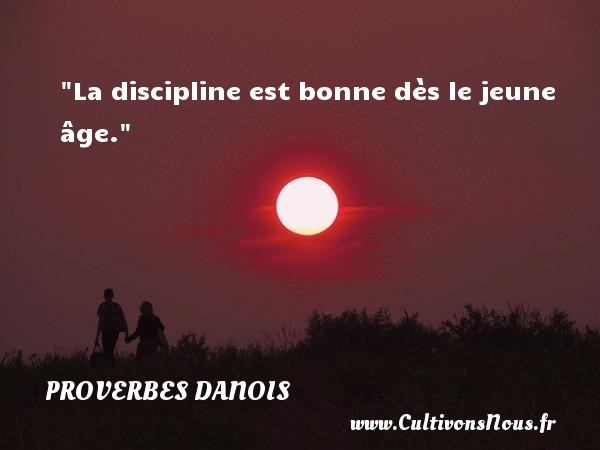 La discipline est bonne dès le jeune âge. Un Proverbe danois PROVERBES DANOIS - Proverbes philosophiques