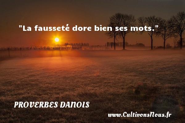 La fausseté dore bien ses mots. Un Proverbe danois PROVERBES DANOIS - Proverbes philosophiques