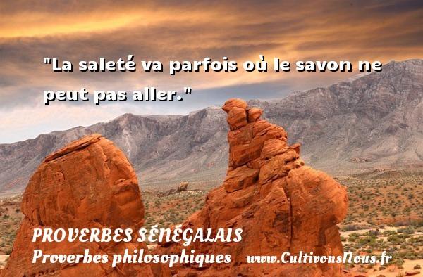 Proverbes sénégalais - Proverbes philosophiques - La saleté va parfois où le savon ne peut pas aller. Un Proverbe sénégalais PROVERBES SÉNÉGALAIS