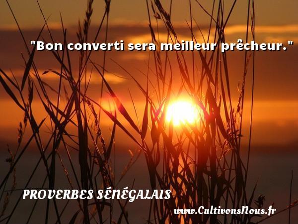 Bon converti sera meilleur prêcheur. Un Proverbe sénégalais PROVERBES SÉNÉGALAIS - Proverbes sénégalais