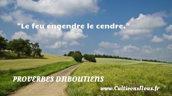 Le feu engendre le cendre. Un Proverbe Djiboutien PROVERBES DJIBOUTIENS - Proverbes philosophiques