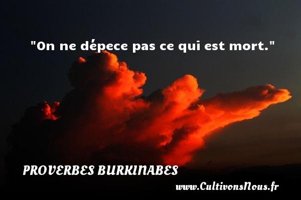 On ne dépece pas ce qui est mort. Un Proverbe burkinabé PROVERBES BURKINABES - Proverbes connus - Proverbes philosophiques