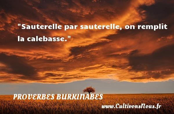 Sauterelle par sauterelle, on remplit la calebasse. Un Proverbe burkinabé PROVERBES BURKINABES - Proverbes connus - Proverbes philosophiques