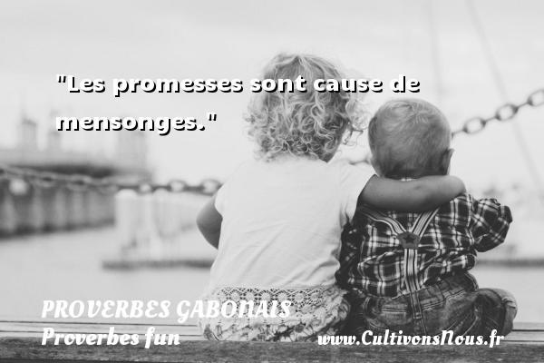 Les promesses sont cause de mensonges. Un Proverbe gabonais PROVERBES GABONAIS - Proverbes fun - Proverbes philosophiques