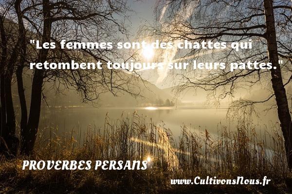 Les femmes sont des chattes qui retombent toujours sur leurs pattes. Un Proverbe persan PROVERBES PERSANS