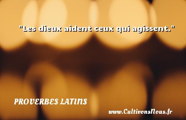 Proverbes latins - Les dieux aident ceux qui agissent. Un Proverbe latin PROVERBES LATINS