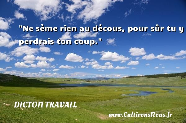 dicton travail