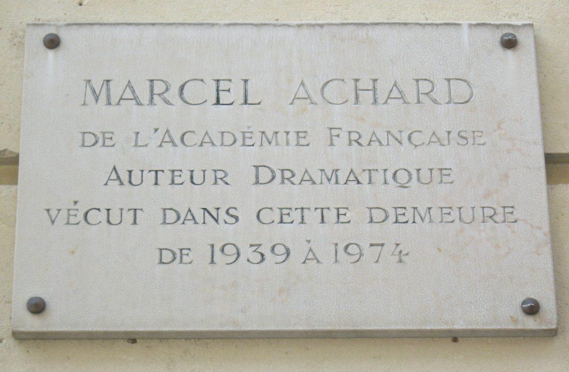 Marcel Achard a l Academie francaise