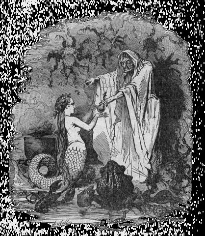 La petite sirène et la sorcière