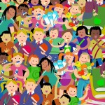 Papotages d'enfants