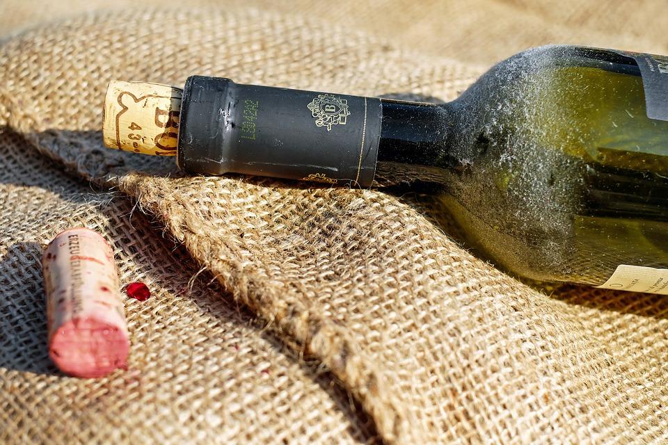 Goulot d'une bouteille de vin